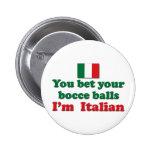 Italian Bocce Balls 2 Inch Round Button