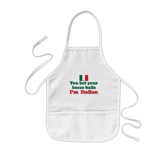 Italian Bocce Balls Kids' Apron