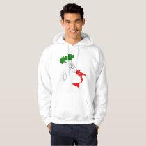 Italian boot hoodie