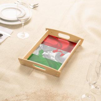 Italian boot serving tray