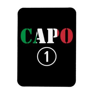 Italian Bosses : Capo Numero Uno Rectangle Magnets