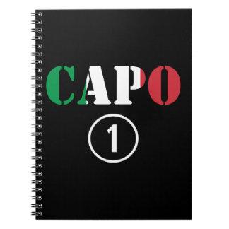 Italian Bosses : Capo Numero Uno Spiral Notebook