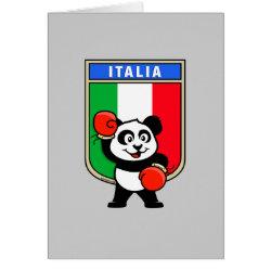 Greeting Card with Italian Boxing Panda design