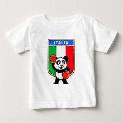 Baby Fine Jersey T-Shirt with Italian Boxing Panda design
