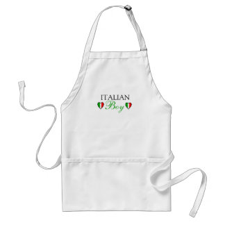 Italian Boy Flag of Italy Adult Apron
