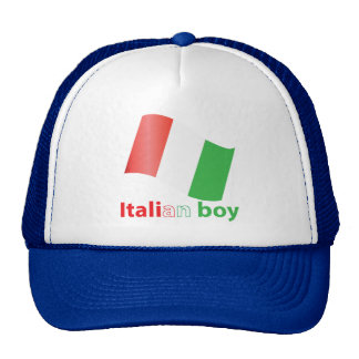 Italian boy trucker hat