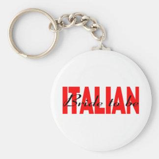 Italian Bride To Be Basic Round Button Keychain