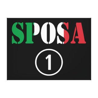 Italian Brides : Sposa Numero Uno Stretched Canvas Print