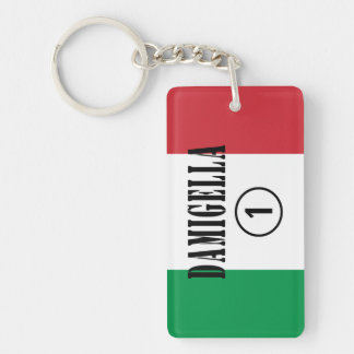 Italian Bridesmaids : Damigella Numero Uno Single-Sided Rectangular Acrylic Keychain