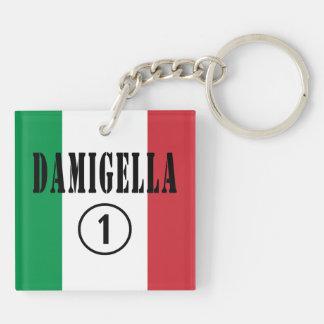 Italian Bridesmaids : Damigella Numero Uno Double-Sided Square Acrylic Keychain