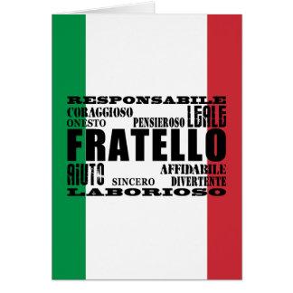 Italian Brothers : Qualities Card