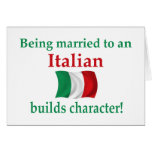 Italian Builds Character Greeting Card