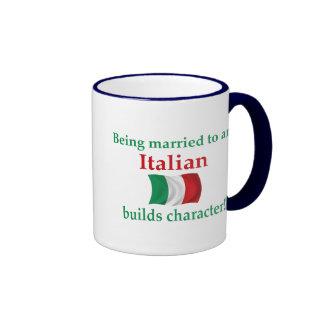 Italian Builds Character Ringer Coffee Mug