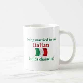 Italian Builds Character Classic White Coffee Mug