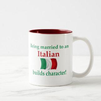 Italian Builds Character Two-Tone Coffee Mug