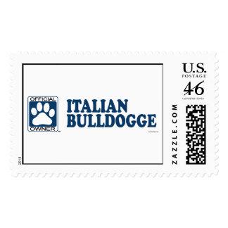 Italian Bulldogge Blue Stamps