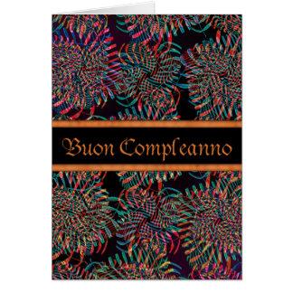 Italian Buon Compleanno Happy Birthday-IncaNight Greeting Card