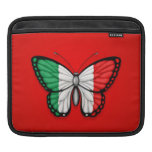 Italian Butterfly Flag on Red Sleeves For iPads