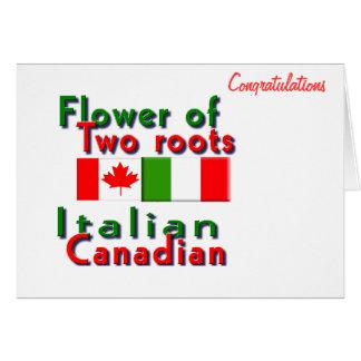 Italian-Canadian Card