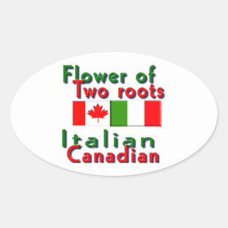 Italian-Canadian Oval Sticker