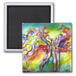 ITALIAN CARNIVAL / Dance,Music,Theater 2 Inch Square Magnet