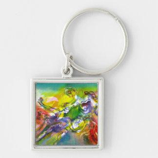 ITALIAN CARNIVAL / Dance,Music,Theater Silver-Colored Square Keychain