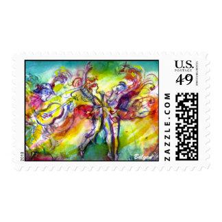 ITALIAN CARNIVAL / Dance,Music,Theater Stamp