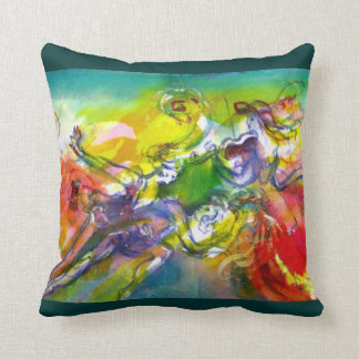 ITALIAN CARNIVAL / Dance,Music,Theater Throw Pillow