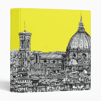 Italian cathedral in yellow 3 ring binder