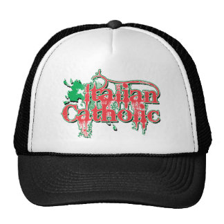 Italian Catholic Gothic Cross Trucker Hat