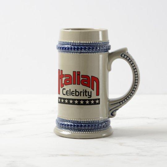 Italian Celbrity Beer Stein