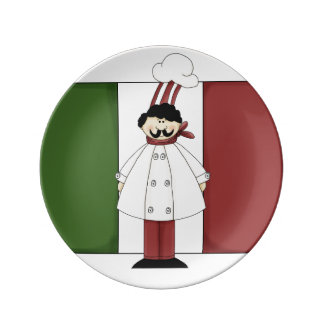 Italian Chef #1 Porcelain Plate