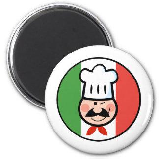 Italian Chef 2 Inch Round Magnet