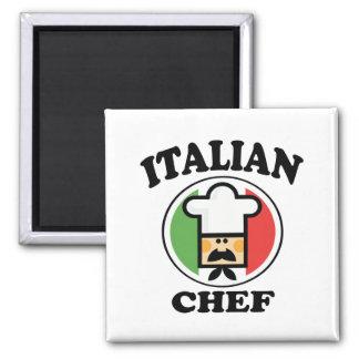 Italian Chef 2 Inch Square Magnet