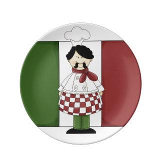 Italian Chef #2 Porcelain Plate