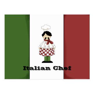 Italian Chef #2 Recipe Card Postcard