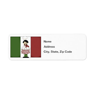 Italian Chef #2 Return Address Label