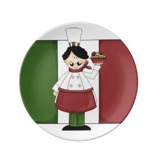 Italian Chef #3 Porcelain Plates