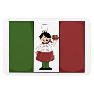 Italian Chef #3 Premium Magnet