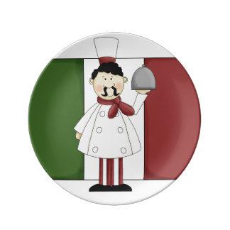 Italian Chef #4 Porcelain Plates
