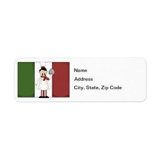 Italian Chef #4 Return Address Label