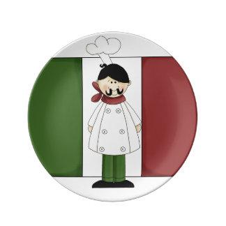 Italian Chef #5 Porcelain Plate