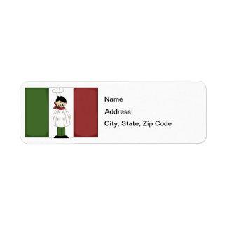 Italian Chef #5 Return Address Label