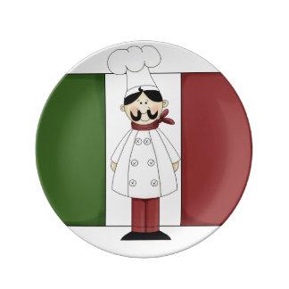 Italian Chef #6 Porcelain Plate