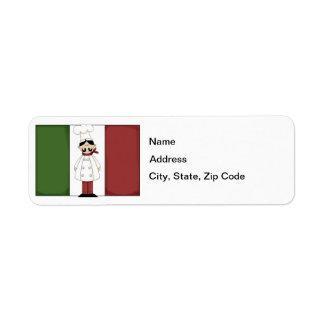 Italian Chef #6 Return Address Label