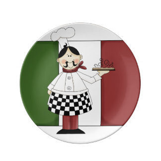 Italian Chef #7 Porcelain Plates
