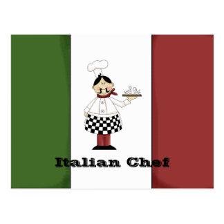 Italian Chef #7 Recipe Card Postcard