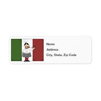 Italian Chef #7 Return Address Label