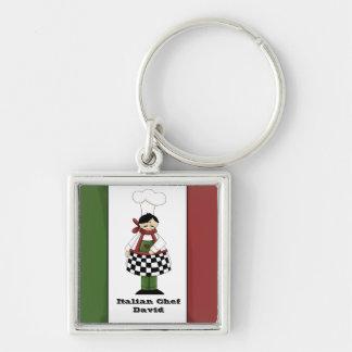 Italian Chef #8 Keychain