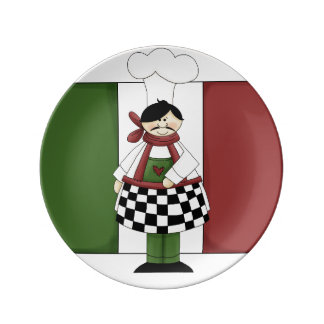Italian Chef #8 Porcelain Plates